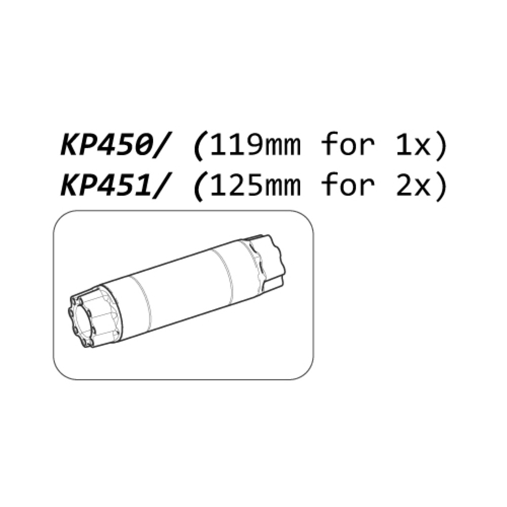 Cannondale krankaksel 125 mm Ai 2x Si/SiSL2 - KP451 | Misc. Gears and Transmission