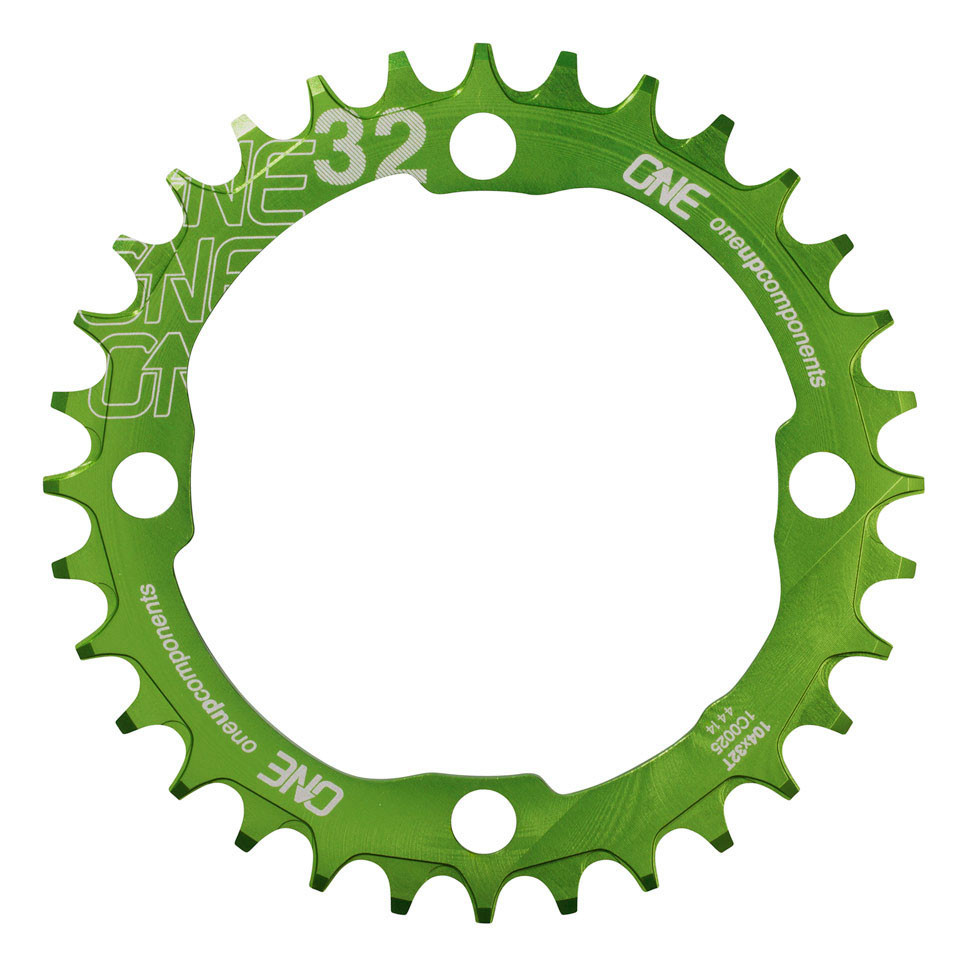OneUp Narrow Wide Klinge BCD104 - grøn | chainrings_component