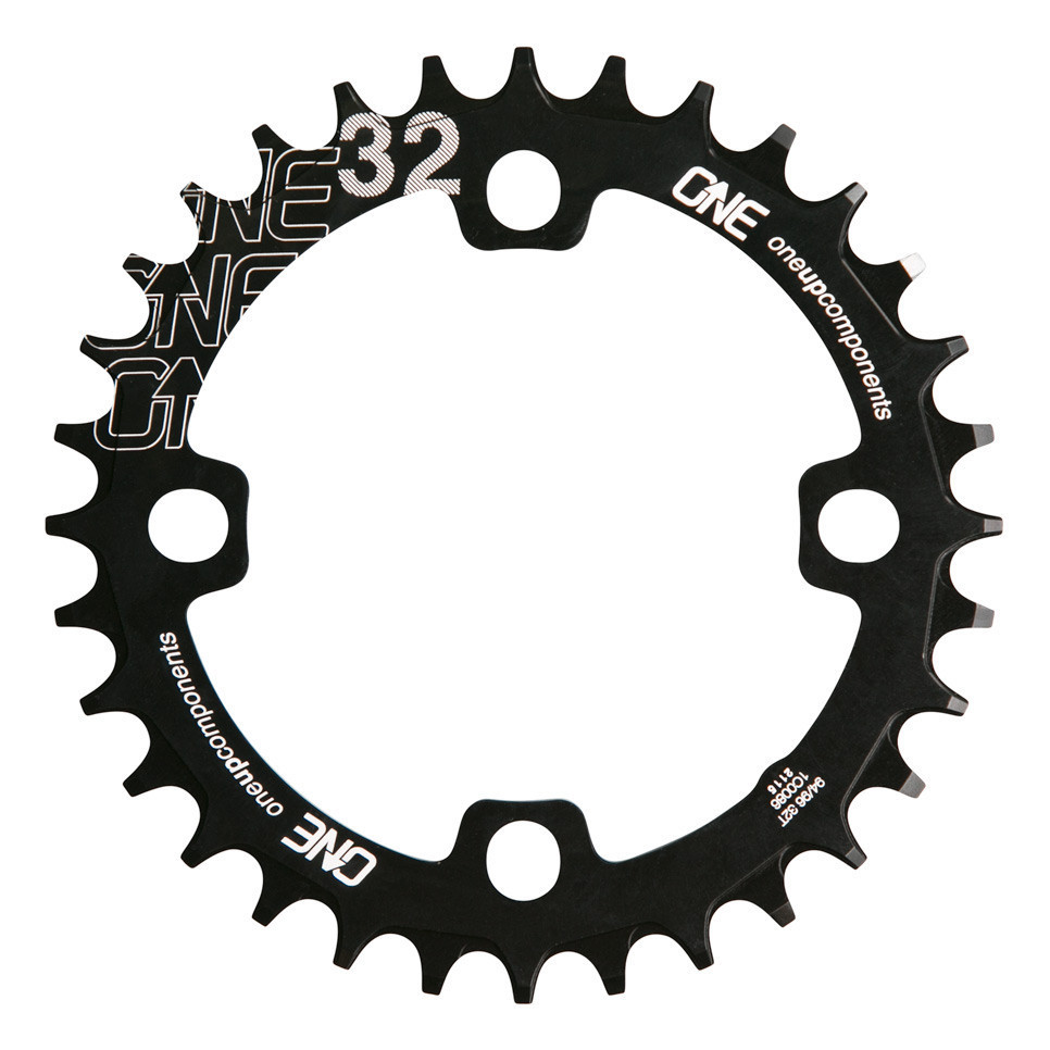 OneUp Narrow Wide Klinge BCD 94 / BCD 96 - sort | chainrings_component
