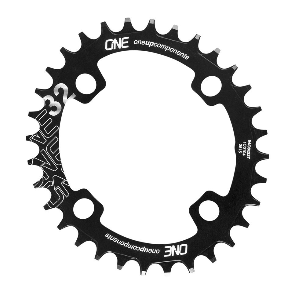 OneUp Narrow Wide Oval Klinge BCD 94 / BCD 96 - sort | chainrings_component