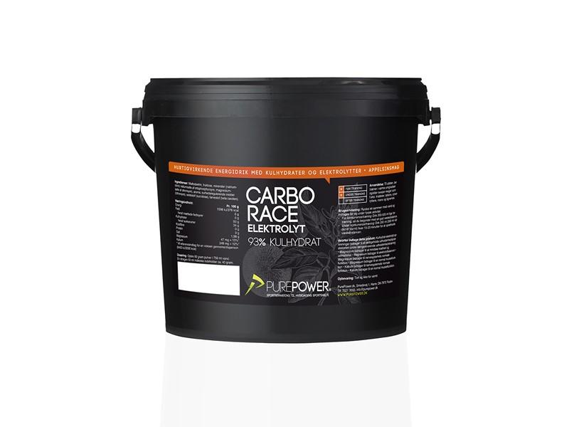 Purepower Energidrik Carbo Race electrolyte - 3000g - Orange - 6924370   Energidrik og pulver
