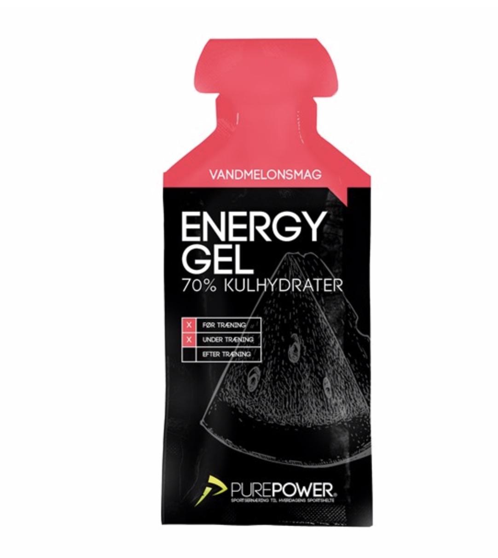 PurePower Energy Gel - 1x40 gram - Vandmelon - 6952760   Energigels