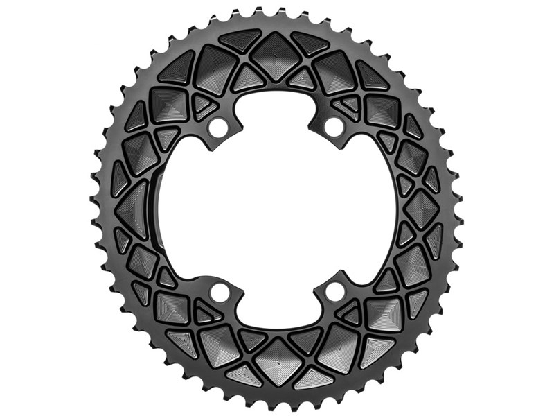AbsoluteBlack Oval Road Klinge BCD 110/4 Shimano R9100/R8000 - sort - ROV9100xx/4BK | chainrings_component
