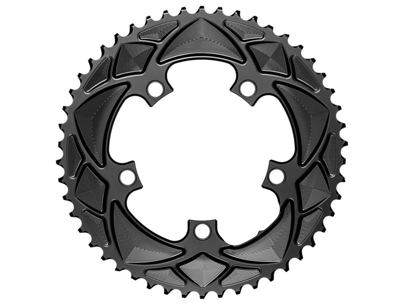 AbsoluteBlack Klinge Road Rund 2x 110/5 - Sort - RRxx5BK | chainrings_component