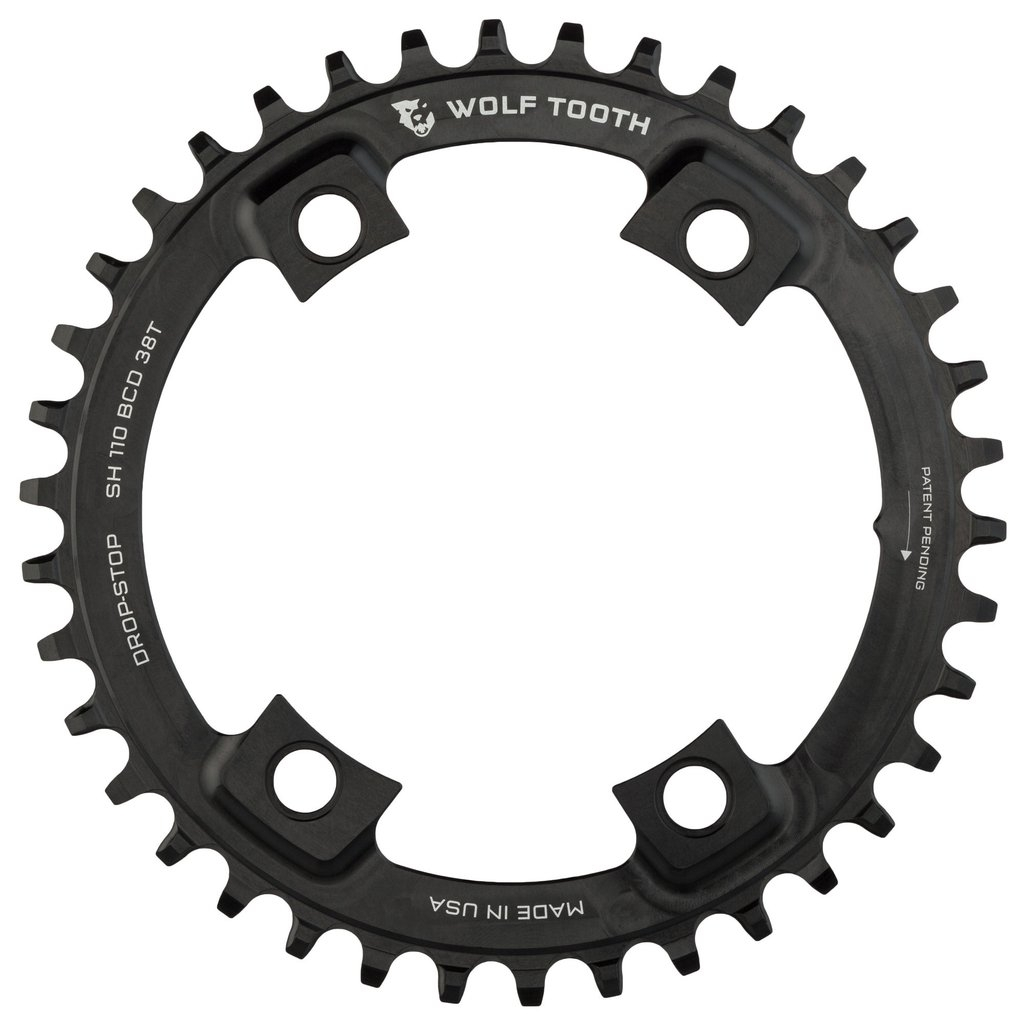 Wolftooth DropStop klinge BCD110/4 asym Shimano - sort - WT-SH110xx | chainrings_component
