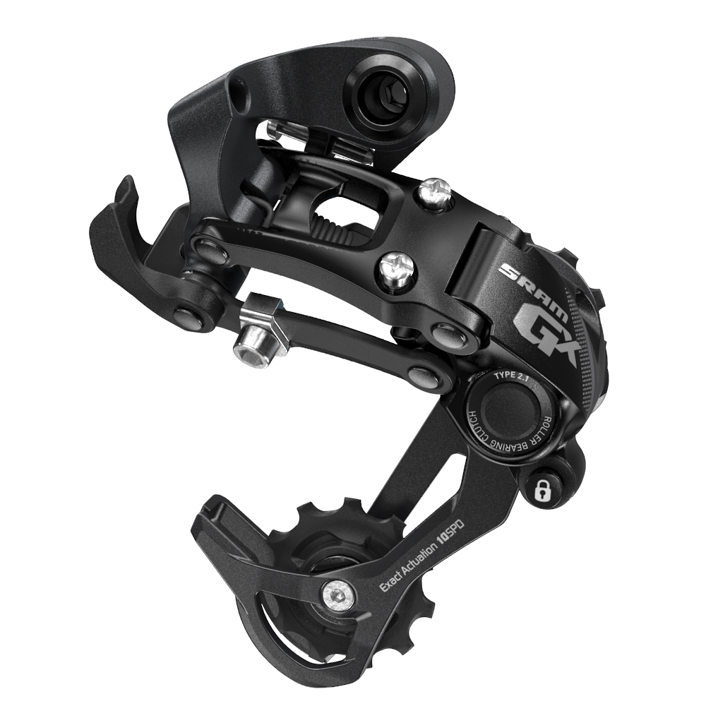 Bagskifter SRAM GX Type 2.1 long cage 10 speed - sort 00.7518.080.000 | Rear derailleur