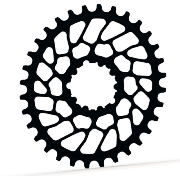 AbsoluteBlack Klinge Narrow/Wide SRAM Spiderless BB30 OVAL - Sort | chainrings_component