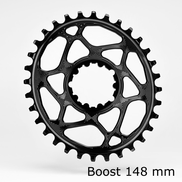 AbsoluteBlack Klinge Spiderless SRAM GXP Boost OVAL - sort - SROVBOOSTxxBK | chainrings_component