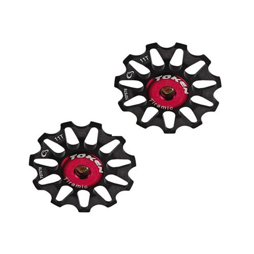 Pulleyhjul Token Alu MTB/Road - Sort - 11T - TK1711 | Pulley wheels