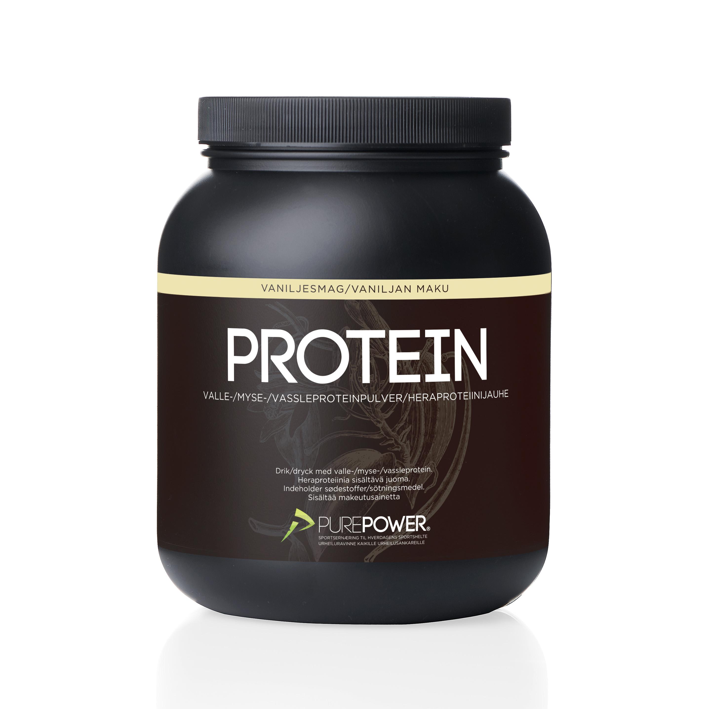 Purepower Proteinpulver - 1000g - Vanilie - 6944300   Proteinbar og -pulver