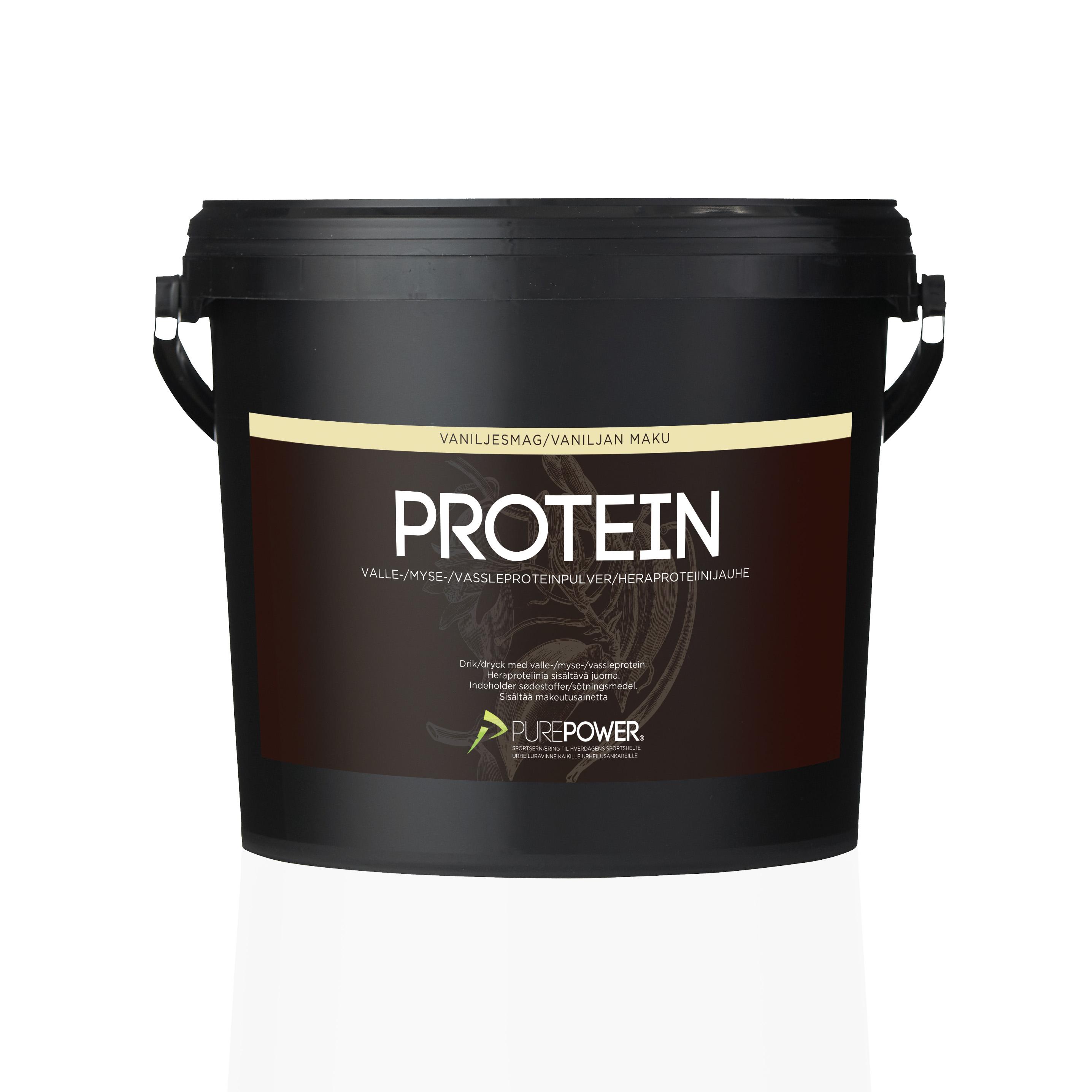 Purepower Proteinpulver - 3000g - Vanilie - 6944370   Proteinbar og -pulver