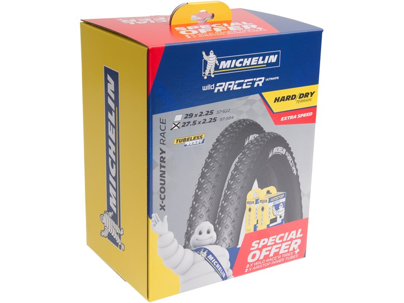 Michelin Wild Race'R Ultimate Advanced kit 27,5x2,25 - 2+2 stk - 357769DA | Tyres