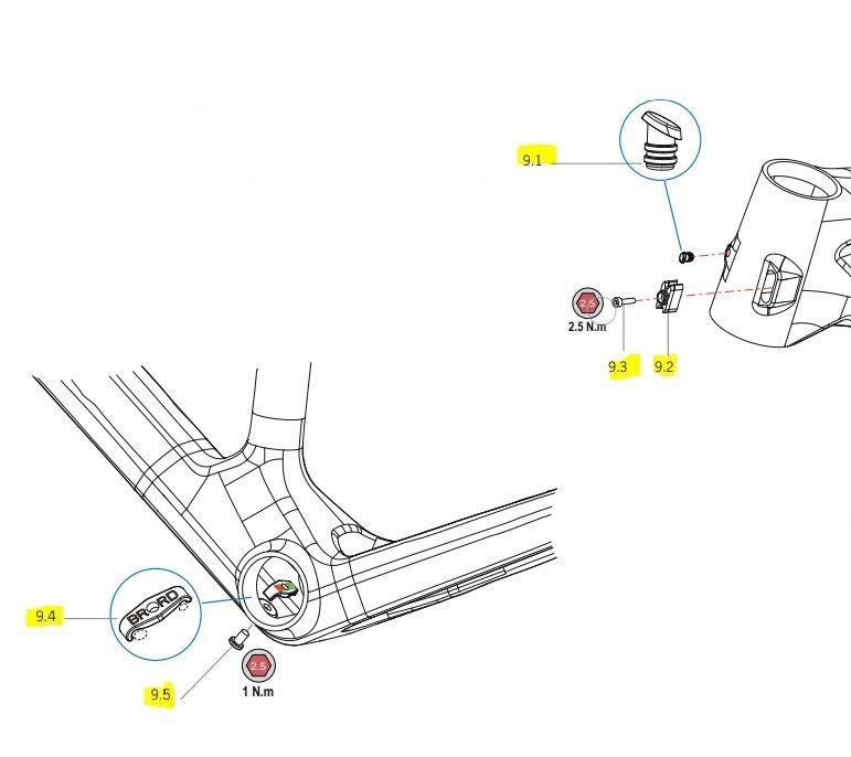 Orbea Alma carbon 2021 Chainguide Kit | gear, krank og klinger tilbehør