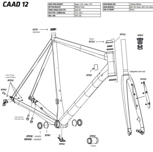 2016 - CAAD12 Reservedele